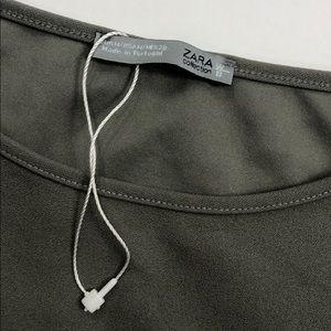 Zara Tops - ZARA Collection Boxy Top w Faux Fur Sleeves